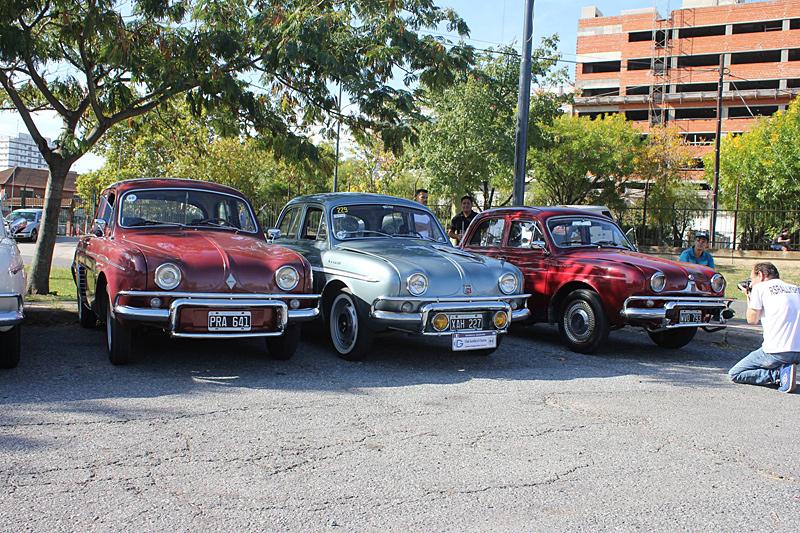 Modelos Dauphine y Gordini en el 2do Encuentro Anual de Renault Classic Buenos Aires