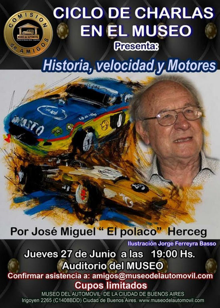 El Polaco Herceg en el Museo del Automóvil de Buenos Aires