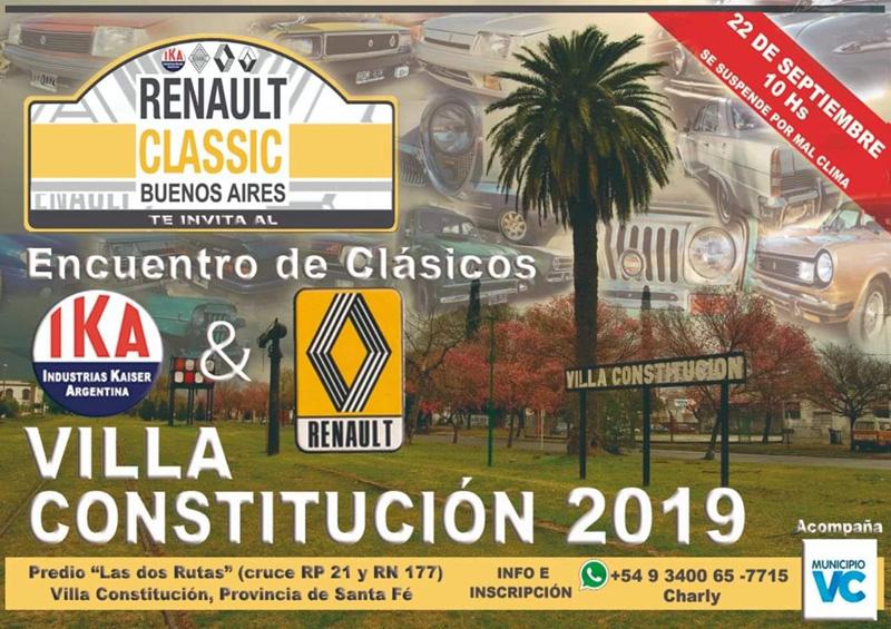 encuentro de clásicos de IKA y Renault en Villa Constitución