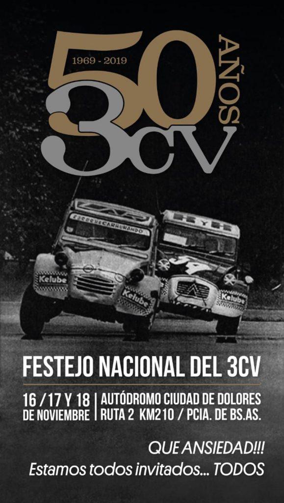 Festejos por los 50 años del Citroën 3CV
