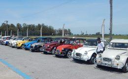 Festejo por los 50 años del Citroën 3cv