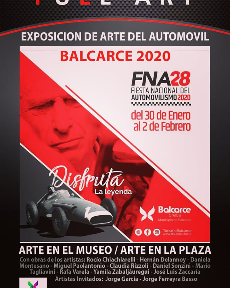 Exposición de arte del automóvil en Balcarce