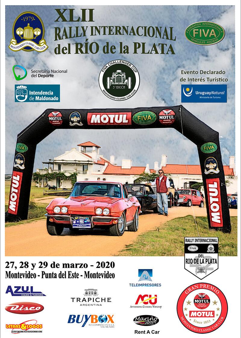 42ª edición del Rally Internacional del Río de la Plata - Gran Premio Motul, con cabecera en Punta del Este, la que tendrá lugar del 27 al 29 de marzo del presente año.