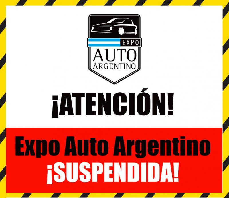 Expo Auto Argentino suspendido