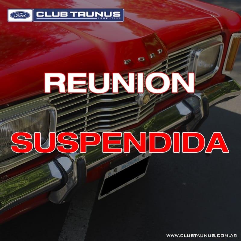 El Club Taunus Argentina suspendió su encuentro previsto para el 29 de marzo.