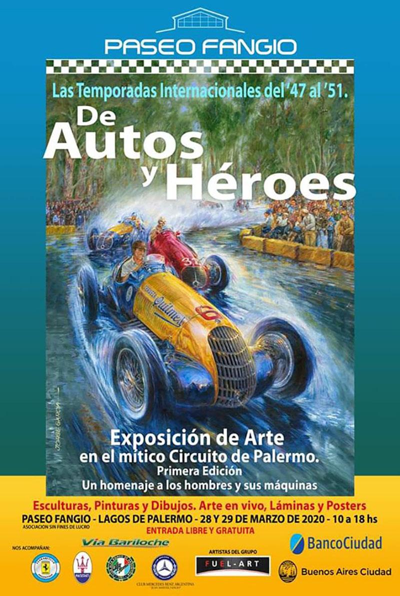 Muestra de arte en homenaje a Las Temporadas Internacionales de Automovilismo